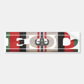 Afghanistan Campaign Ribbon EOD Bumper Sticker