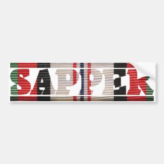 Afghanistan Campaign Ribbon SAPPER Bumper Sticker