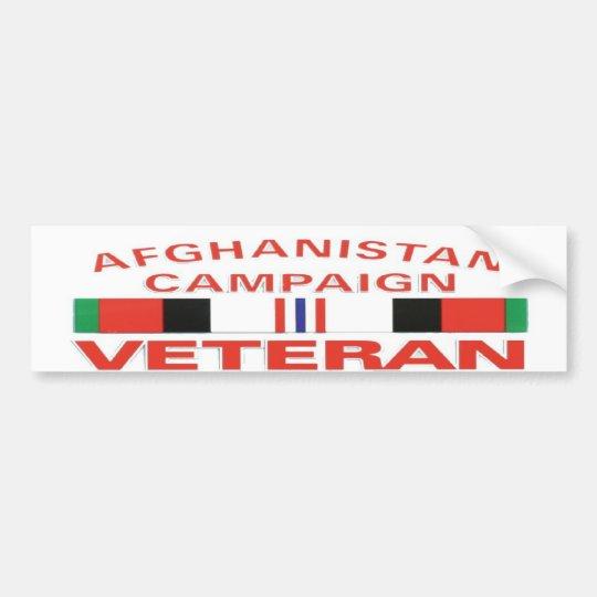 AFGHANISTAN CAMPAIGNBUMP STICKER