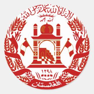 Afghanistan Coat of arm AF Round Sticker