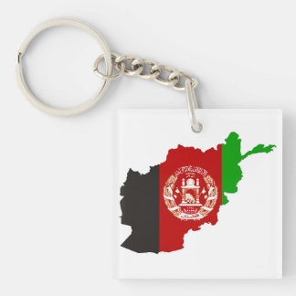 afghanistan country flag map shape symbol silhouet key ring