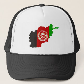 afghanistan country flag map shape symbol silhouet trucker hat