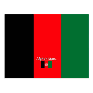 Afghanistan Country Flag Postcard