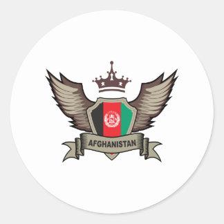 Afghanistan Emblem Round Sticker