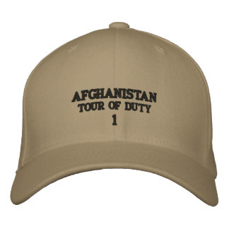 AFGHANISTAN EMBROIDERED BASEBALL CAPS