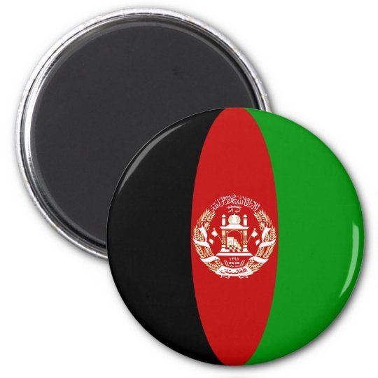 Afghanistan Fisheye Flag Magnet