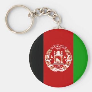 Afghanistan  Flag AF Basic Round Button Key Ring