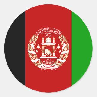 Afghanistan  Flag AF Classic Round Sticker