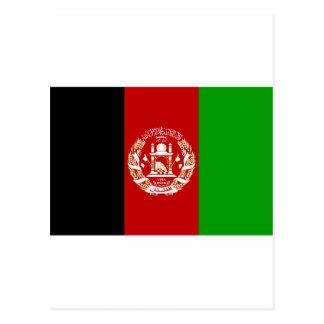 Afghanistan  Flag AF Postcard