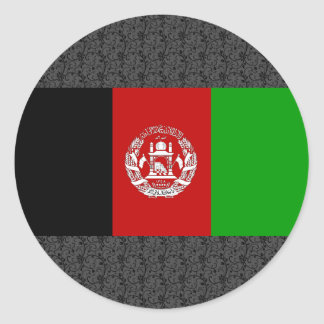 Afghanistan Flag Classic Round Sticker