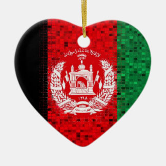 Afghanistan Flag glitter ornament