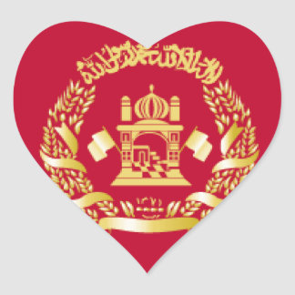 Afghanistan Flag Heart Stickers