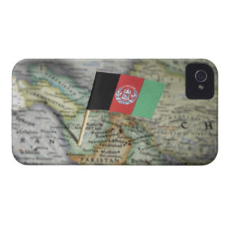 Afghanistan flag in map Case-Mate iPhone 4 case