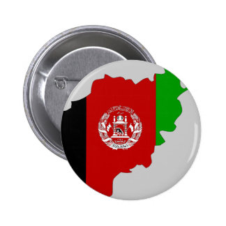 Afghanistan flag map 6 cm round badge