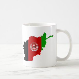 Afghanistan flag map coffee mug