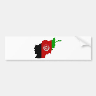 Afghanistan Flag Map full size Bumper Sticker