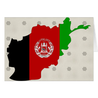 Afghanistan Flag Map full size Card