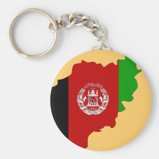 Afghanistan flag map key ring