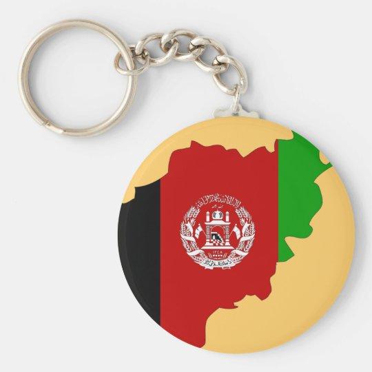 Afghanistan flag map key ring