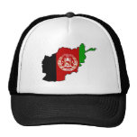 Afghanistan Flag Map Mesh Hats