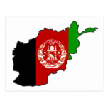 Afghanistan Flag Map Postcard