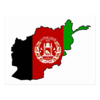 Afghanistan Flag Map Postcard