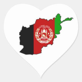 Afghanistan Flag Map Sticker