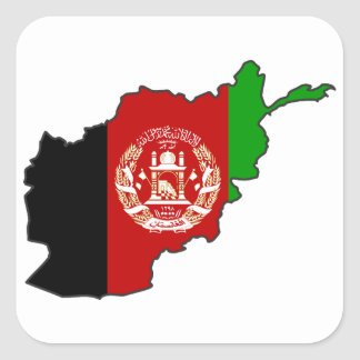 Afghanistan Flag Map Stickers