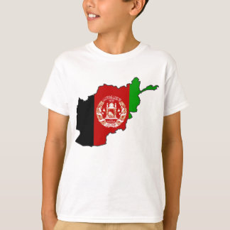 Afghanistan Flag Map T-Shirt