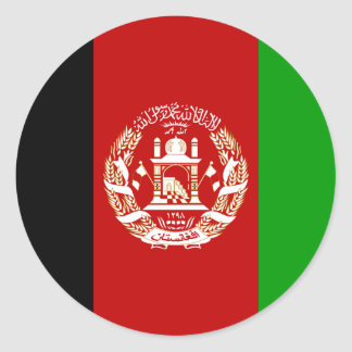 Afghanistan Flag Round Stickers