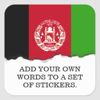 Afghanistan Flag Square Sticker