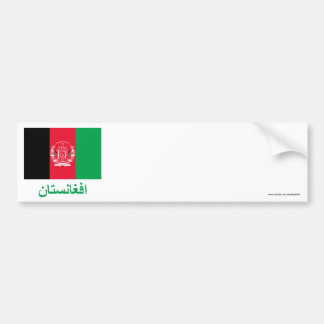 Afghanistan Flag with Name in Pashto Bumper Sticker