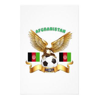 Afghanistan Football Designs Stationery