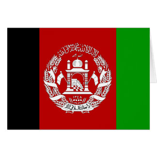 Afghanistan High quality Flag Card
