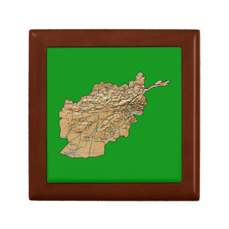 Afghanistan Map Gift Box
