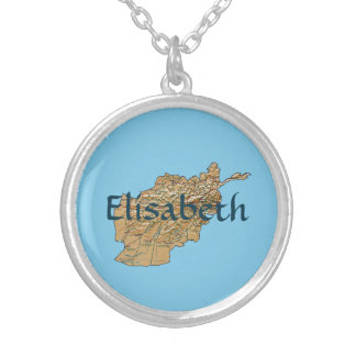 Afghanistan Map + Name Necklace