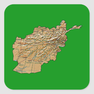 Afghanistan Map Sticker