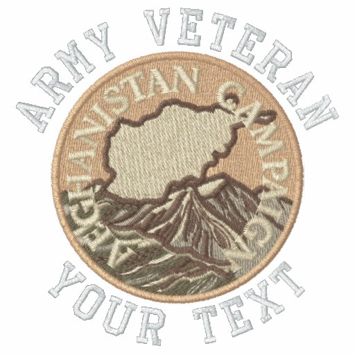 Afghanistan Medal Embroidered Polo Shirt