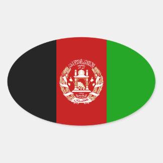 Afghanistan National Flag Oval Sticker