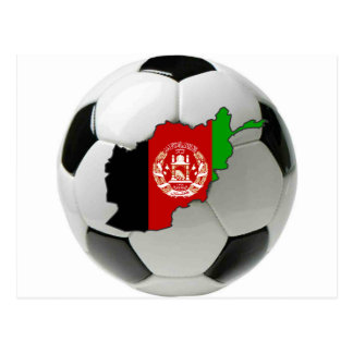 Afghanistan national team postcard