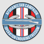Afghanistan OEF CIB Round Stickers
