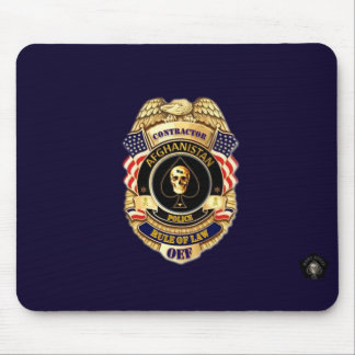 Afghanistan Police Contractor Rule of Law Pad Mouse Mat