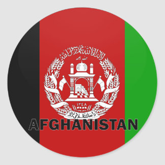 Afghanistan Roundel quality Flag Round Stickers