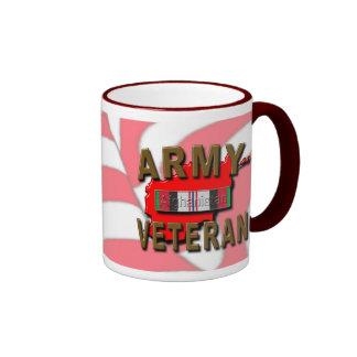 Afghanistan Service Ribbon, ARMY Ringer Mug