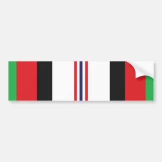 Afghanistan Service Ribbon Bumper Sticker