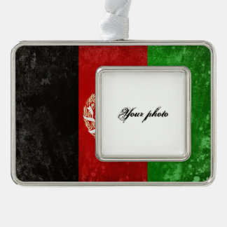 Afghanistan Silver Plated Framed Ornament
