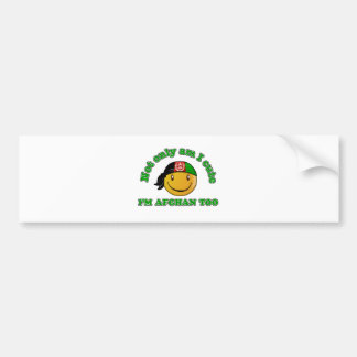 Afghanistan Smiley design Bumper Sticker
