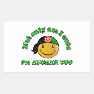Afghanistan Smiley design Rectangular Sticker