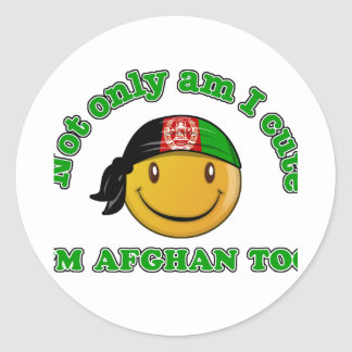 Afghanistan Smiley design Stickers
