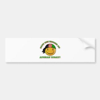 Afghanistan smiley flag designs bumper sticker